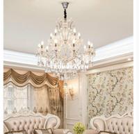 Yeni Modern Krom Temizle Kristal avizeler Yaratıcı Mum Asma Lambalar İçin Mutfak Yemek odası Villa Yatak Odası Avize Ev Aydınlatma