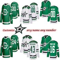 Las mujeres de los niños de los hombres de encargo Dallas Stars de 91 Tyler Seguin 14 30 Benn Obispo 16 Pavelski Personalizar cualquier número de cualquier maillot nombre de hockey