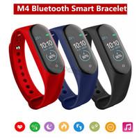 M4 Bracelet Intelligent Bracelet Fitness Tracker Fréquence Cardiaque Messages de Pression Artérielle Rappel Ecran Couleur Bracelet de Sport PK Bande Mi 4 M3 ID115 Plus