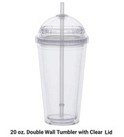 Cheapest!! 20oz Clear Acrylic Tumbler Plastic Water Cup with...