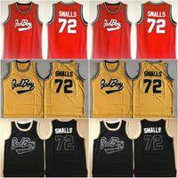 Mens Badboy # 72 Biggie Smalls Jersey notorioious b.I.g. Jerseys de baloncesto de chico malo cosido S-XXL