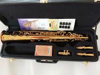 Yeni Varış Soprano B (B) Saksafon YANAGISAWA S-WO10 Altın Kaplama B Düz Pirinç Enstrüman Sax Ağızlık Ücretsiz Kargo Ile