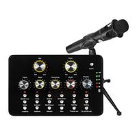 V10 Sound-Karten-Aufnahme Kondensator Studio-Mikrofon für Mobile Computer PC Einzel Kopfhörer Audio-Karte für Live-Aufnahme Telefon-Chat