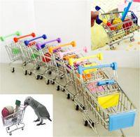 Nuovo mini supermercato carrello colorato divertente Finta Play Toys Trolley Pet criceto giocattolo dell'uccello del pappagallo