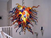 Piccole Abbastanza artistiche Chihuly lampadario 120v 240v lampadine LED Pop Style Brilliancy Blown luci appese vetro