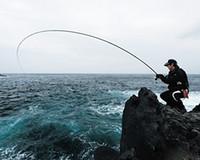 telescopio de pesca flotante de roca de mar pargo de varilla de carbono varilla de alta sensibilidad