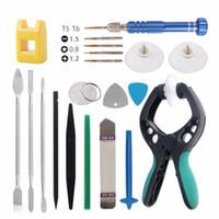 Kit de herramientas de desmontaje de reparación de 20 piezas para alicates de apertura de pantalla LCD para teléfono inteligente palanca de metal para Samsung iPhone teléfono móvil