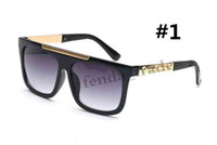 2019 marque design brun acier inoxydable rétro lunettes de soleil hommes pilote voyage de luxe luxe UV400 lunettes de soleil dames conduisant 9264