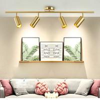 Nordic Lampada da soffitto a LED a soffitto Creative Track Spot Luce soggiorno Lampada da soffitto ristorante Bar Negozio di abbigliamento Oro ha condotto la luce di soffitto