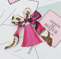 Moda Sıcak Satış Atkılar anahtarlık Ilmek Zarif Dekorasyon PU Deri Püsküller Anahtarlıklar Kadın Çanta Charm Kolye
