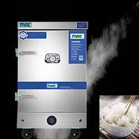 JJSHOO acier inoxydable commercial électrique à vapeur Bun pain réchaud Cabinet Stuffed pain Machine à vapeur