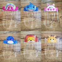 12 Styles Kinder Gesichtsschutz für Kinder Gesicht Isolation Maske Wasserdichtes Vollgesichts Abdeckung Karikatur Schirm Transparent Schutzmaske mit Glas