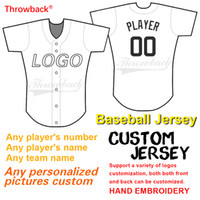 Jersey de baseball personnalisé Support de la conception graphique personnalisée et de la personnalisation des maillots rétro et des équipes Nom de la broderie logo