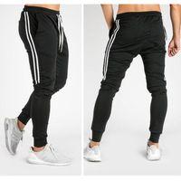 New Men's Hip Hop Sweatpants Fitness Joggers 2019 Spring Male Side Stripe High Street Hip Long Trousers Harem Pants Sweatpant