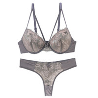 7a6c795fb5762 High-end brand New Arrival lace bra set push up underwear set women panties  thin thick cup hollow lace intimates bras lingerie