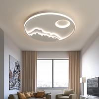 Yeni Tavan Işıklar Dim Led Avize Salon Yatak Odası Çalışma Odası Beyaz Renk Modern Avize Ücretsiz Kargo açtı