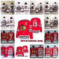 Chicago Blackhawks 2019-20 Authentic Jersey Jonathan Toews Kirby Dach Patrick Kane Duncan Keith Brent Saad Corey Crawford Hockey Jersey