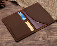 Leather Passport Cover - Retro Womens Mens Passport Holder B...