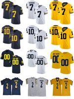 Michigan Wolverines 2 Woodson 3 Rashan Gary 7 Khaleke Hudson 12 Evans Kinnel 5 Peppers 10 Tom Brady 4 Jim Harbaugh College Football Jerseys