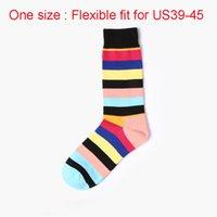 Moda Personalidade 2pcs alta qualidade engraçado Socks Retro Nacional Estilo Stripe Sock do Masculino Cotton Socks macio respirável Man Sock VT0825