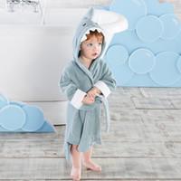 2019 جديد لطيف الطفل حمام رداء الكرتون الجلباب الطفل المناشف الرضع منشفة شاطئ منشفة الطفل ملابس الاطفال الجلباب 6Color A3369
