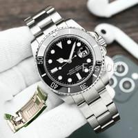 Glide Lock Зеленый керамический Безель Новый Мужские Механические SS 2813 Автоматическое движение Часы Дизайнер Спорт Мода Мужчины Часы Наручные часы