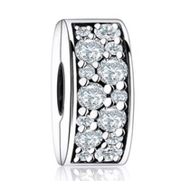 Authentic 925 Sterling Silver Shining Elegance With Clear Cr...