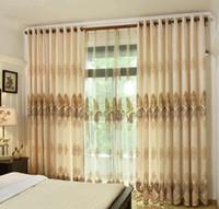 300mm de largura Nordic cortinas do vintage de alta qualidade jacquard rendas costura cortinas de alta qualidade, extra longo (280 cm = 110 polegadas) cortina da janela de casa