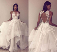 Gorgeous Ball Gown Wedding Dresses Spaghetti Straps Applique...