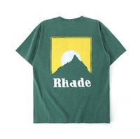 2020 Erkek Tasarımcı T Gömlek Erkekler Kadınlar Streetwear Casual High Street Tişört Pamuk Çift Üst Tees RHUDE T-shirt
