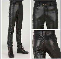 بالاضافة الى حجم ضئيلة ذكر سروال جلد ذكر بنطلون سروال جلد ضيق ذكر للدراجات النارية Pantalon هوم الملابس الداخلية للرجال الملابس الداخلية للرجال CX200629