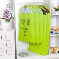 3 tamaños Bolsa de cubierta de traje a prueba de polvo para la ropa Vestido Ropa a prueba de humedad Chaqueta Falda Almacenamiento Protector EEA450