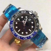 2020 de lujo de New Gent GMT II 2 de cuarzo de 44 mm viento del uno mismo Relojes de acero inoxidable de buceo Blanco Negro Maestro de plata del reloj para hombre