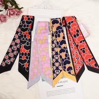 Departamento delgada banda de sujeción bolso de la manija bufanda de seda pequeña cinta decoración bufanda correa del bolso de señora Scarf