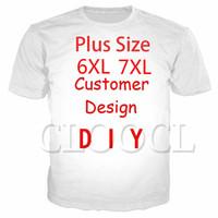 Clocl DIY Fertigen Sie Persönlichkeitsdesign T-Shirts 3D-Druck-Eigenbild-Foto-Sterne-Anime Casual Plus-Größe T-Shirts