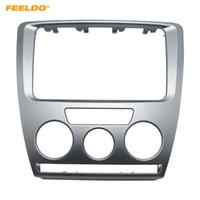 FEELDO Araba DVD / CD Radyo Stereo 2DIN Alınlık Paneli Takma Çerçeve Skoda Octavia Için Montaj Kiti Facia Trim Yüklemek (2007 ~ 2009) Manuel A / C # 3468