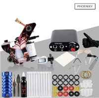 Beginner Tattoo Kit One Tattoo Machine Gun Set 8 Wrap Coils ...