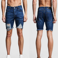 65ea6d43ed New Arrival. MoneRffi Mens Denim Shorts Slim Regular Casual Knee Length  Short Hole Jeans Shorts For Men 2019 New Summer