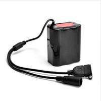 8.4V USB rechargeable 12000mAh 6X18650 Pack de batterie pour vélo lumière torche de vélo juillet 27