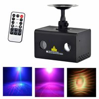 AUCD Mini Remote 12 Patrones RG Iluminación láser Xmas Water Galaxy RGB LED Etapa Luz Proyector Wedding Party DJ Home LL-12RG