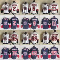 New York Rangers CCM Vintage Formalar 99 Gretzky 68 JAGR 9 Greleri 11 Messici 2 Leetch 35 Richter Hokey Jersey