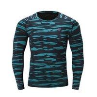 Yeni Moda Uzun Kollu Erkek Spor Koşu Gömlek Hızlı Kuru Basketbol Futbol Eğitimi T Gömlek Erkekler Spor Giyim Spor Rashgard