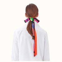 Profeesion Оптовая популярный 200 * 3CM шарф повязка Женщины Длинный тощий плед платках Продажа дамы Paisley шелковый шарф сумка Ribbons Горячие
