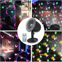 Luces láser 12W Led decoración de la pared Luz láser Color RGB IP67 110-240V Alto brillo para Halloween Día de Navidad Brightday Party DHL