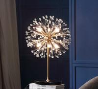 Glühlly Kristall Tischlampe für Schlafzimmer Starfish Stehleuchte Marmor Base Bodenlichter für Wohnzimmer Moderne LED Tischleuchten Llfa