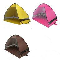 Portátil Pop Up Carpa de playa plegable Carpa abierta automática Familia Turista Pescados Camping Sun Shade carpa CTS001