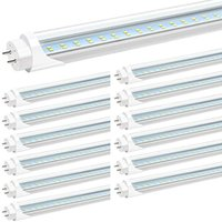 12-Pack Stock in US 4ft 24W Led T8 Tubes Lights 4 feet 1.2m G13 Led Tubes Double Rows High Bright AC 110-277V
