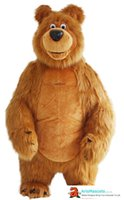 Funny Adult Size Inflatable Bear Mascot Costume for Theme Pa...