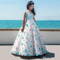 New Flower Girl Dresses For Weddings Vestidos daminha Kids Pageant Gowns 2019 Ball Gown Pink First Communion Dresses For Girls