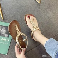 Chinese character toe sandals female Xia Pingdi 2019 new var...